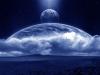 Universe space moon planet